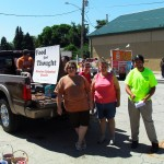 Truck from Star Ford, sign by Jan Fitzsimmons, and our volunteer crew!