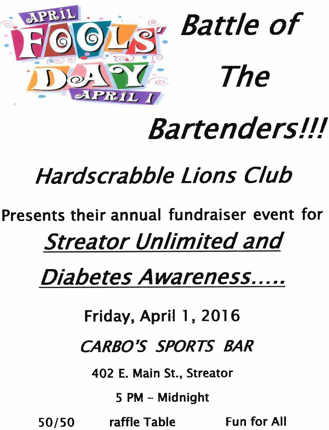 Battle of the Bartenders Fundraiser – Streator Unlimited